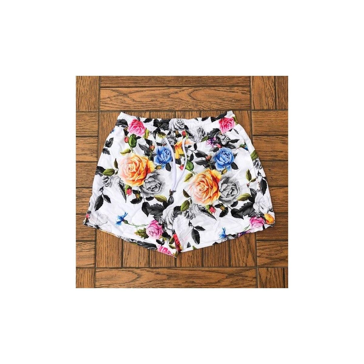 Men's Swim Shorts With Colored Flower Print MV Swimwear Collection - 1