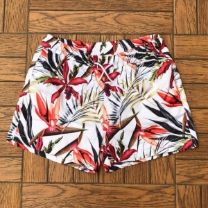 Men's Swim Shorts With Leaf Print Light Colored MV Swimwear Collection - 1