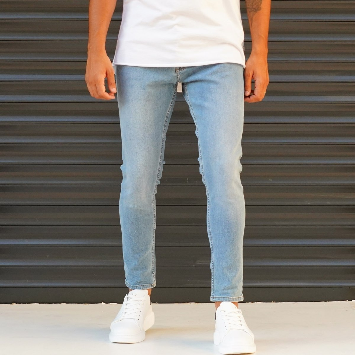 Men's  Jeans With Lycra In Blue