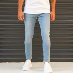 Men's Jeans With Lycra In Blue Mv Premium Brand - 1