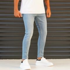Men's Jeans With Lycra In Blue Mv Premium Brand - 2