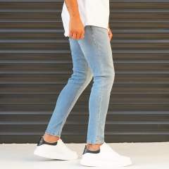 Men's Jeans With Lycra In Blue Mv Premium Brand - 3