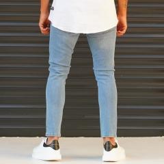 Men's Jeans With Lycra In Blue Mv Premium Brand - 4