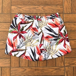 Men's Swim Shorts With Leaf Print Light Colored MV Swimwear Collection - 2