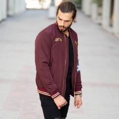 MV Autumn Collection Bomber Jacket in Claret Red MV Jacket Collection - 2