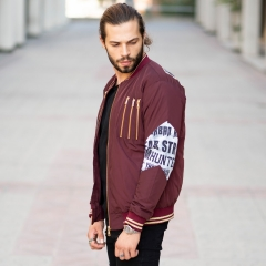 MV Autumn Collection Bomber Jacket in Claret Red MV Jacket Collection - 3