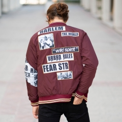MV Autumn Collection Bomber Jacket in Claret Red MV Jacket Collection - 4