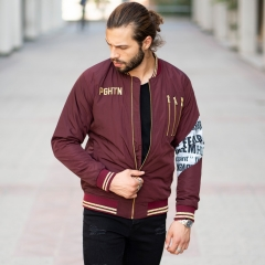 MV Autumn Collection Bomber Jacket in Claret Red MV Jacket Collection - 1