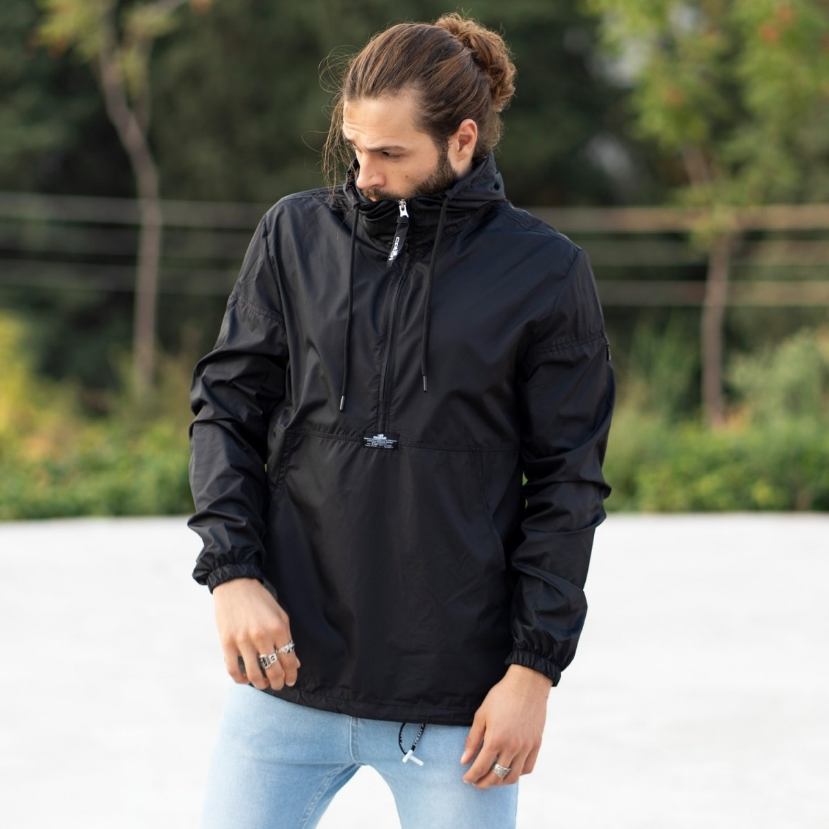 MV Autumn Collection Rainproof Hoodie in Black