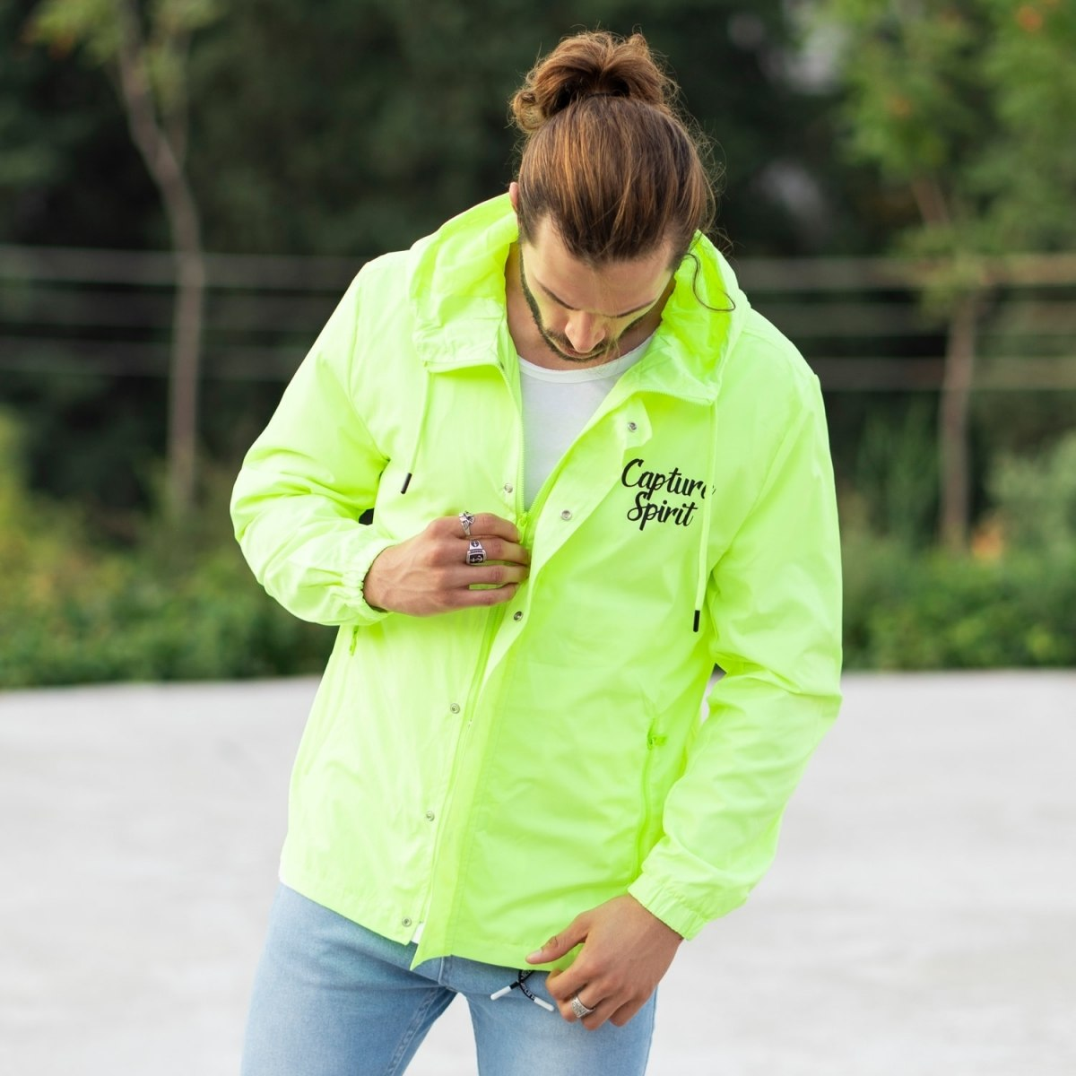 MV Autumn Collection Rainproof Hoodie in Neon-Green MV Jacket Collection - 1