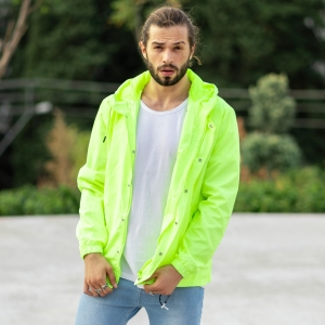 MV Autumn Collection Rainproof Hoodie in Neon-Green MV Jacket Collection - 2