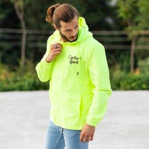 MV Autumn Collection Rainproof Hoodie in Neon-Green MV Jacket Collection - 3