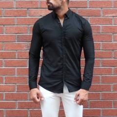 Men's Stylish Basic Shirt In Black MV Shirt Collection - 2