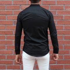 Men's Stylish Basic Shirt In Black MV Shirt Collection - 3