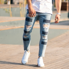 Men's Jeans With Fonts and Ribs Mv Premium Brand - 1