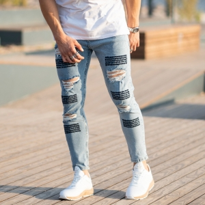 Men's Jeans With Fonts and Ribs Mv Premium Brand - 3