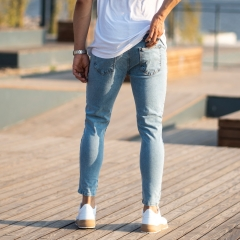 Men's Jeans With Fonts and Ribs Mv Premium Brand - 4