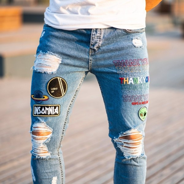 Men's Stylish Patchworked...