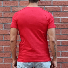 Men's Round Neck Stylish Basic T-Shirt Red MV T-shirt Collection - 1