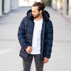Windproof Puff Jacket In Blue MV Jacket Collection - 2