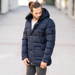 Windproof Puff Jacket In Blue MV Jacket Collection - 1