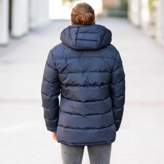 Windproof Puff Jacket In Blue MV Jacket Collection - 3