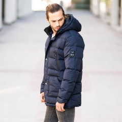 Windproof Puff Jacket In Blue MV Jacket Collection - 4