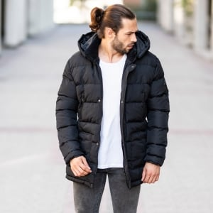 Windproof Puff Jacket In Black MV Jacket Collection - 2
