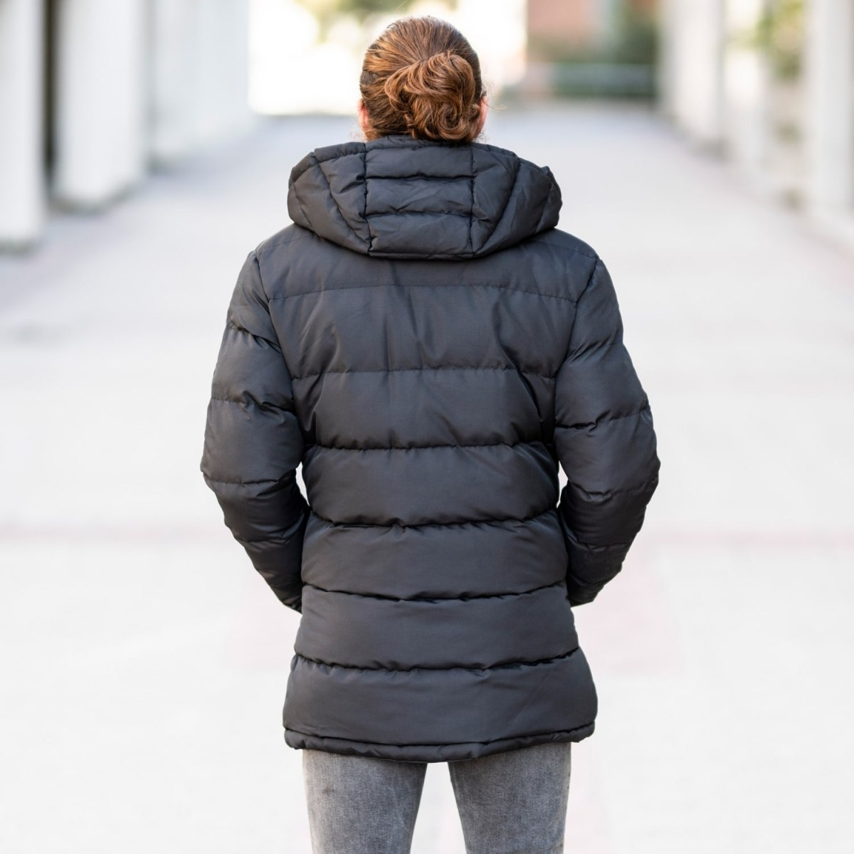 Windproof Puff Jacket In Black MV Jacket Collection - 4
