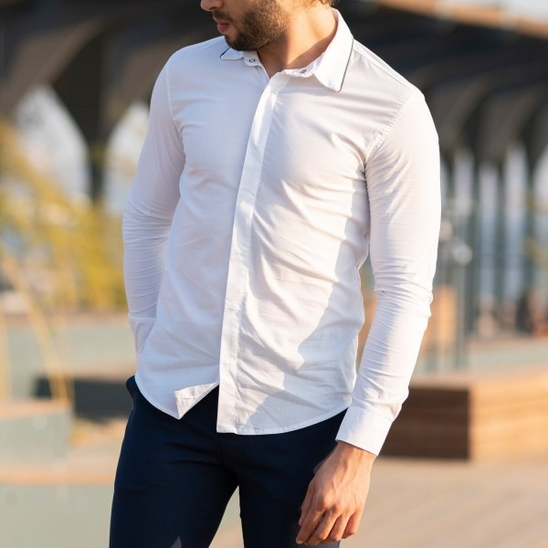 Men's Long Sleeve Casual...