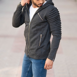 Gray Autumn Collection Zip Jacket MV Jacket Collection - 1