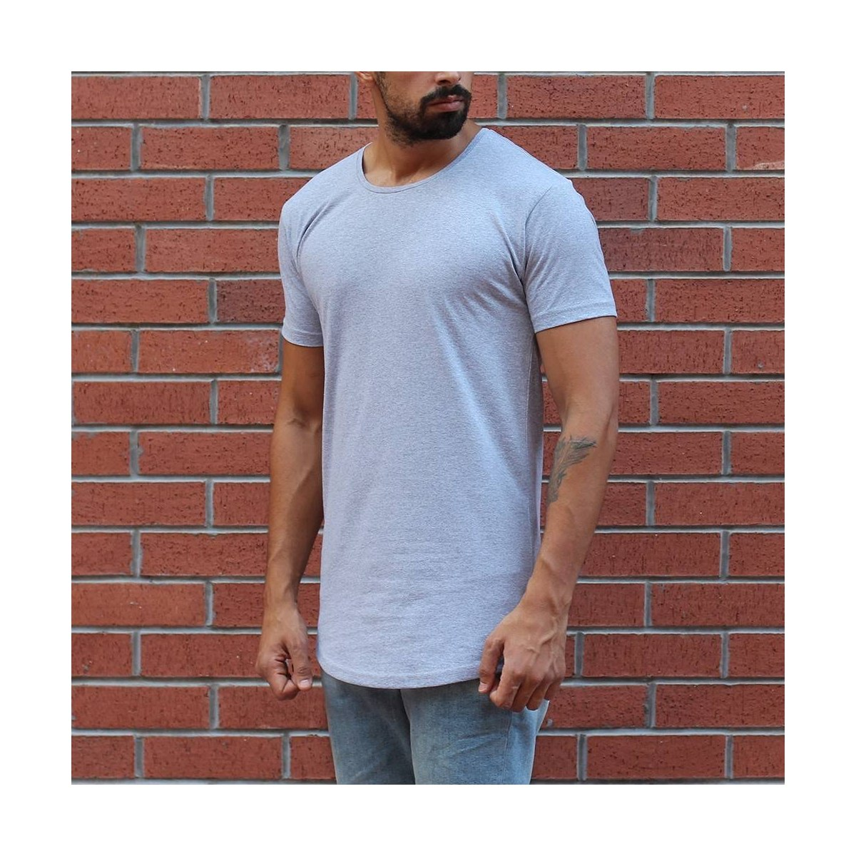 Men's Round Neck Slim Fit...