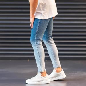 Men's Jeans In Denim&Powder Style Mv Premium Brand - 3