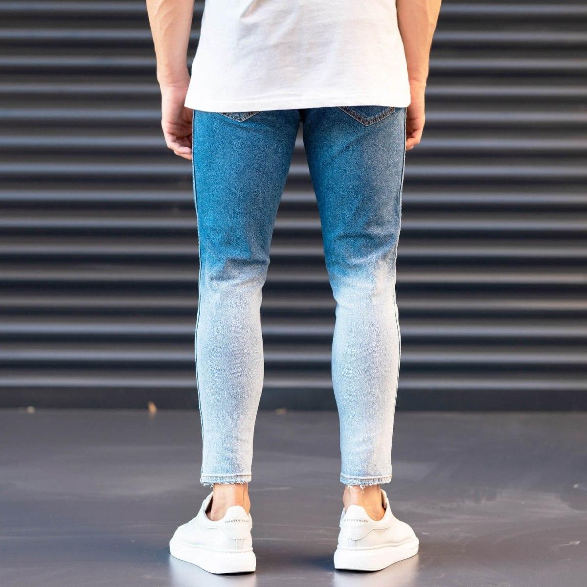 Men's Jeans In Denim&Powder Style Mv Premium Brand - 4