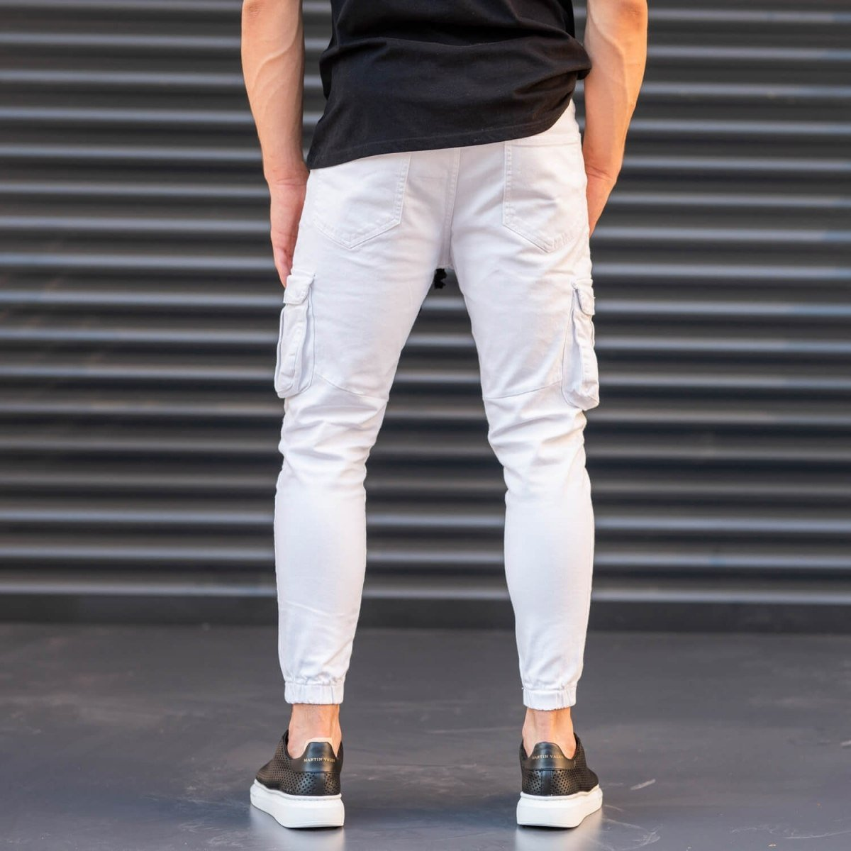 Men's Jeans with Pockets Style in White Mv Premium Brand - 5