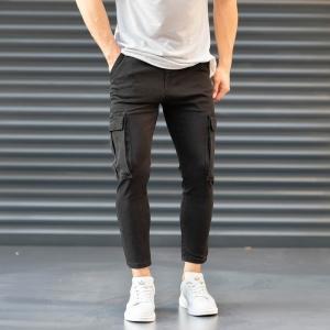 Men's Pocket Style Jeans in Black Mv Premium Brand - 2