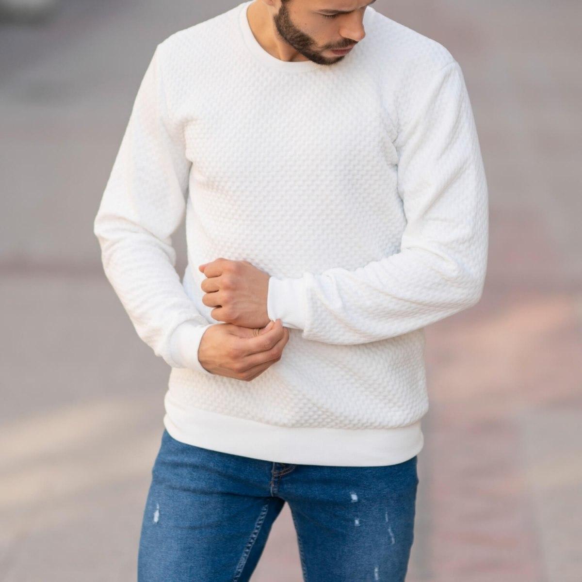 Casual SweatShirt in White Mv Premium Brand - 1