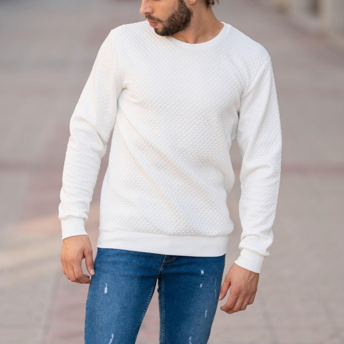 Casual SweatShirt in White Mv Premium Brand - 4
