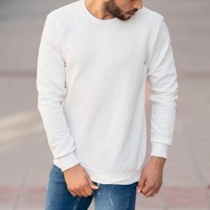 Casual SweatShirt in White Mv Premium Brand - 6