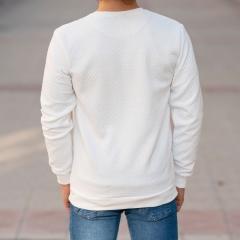 Casual SweatShirt in White Mv Premium Brand - 7