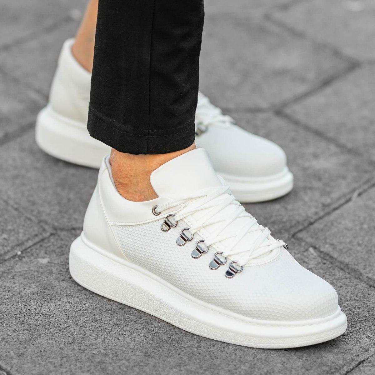 MV White Mesh Mega Sole Sneaker MV Sneaker Collection - 1