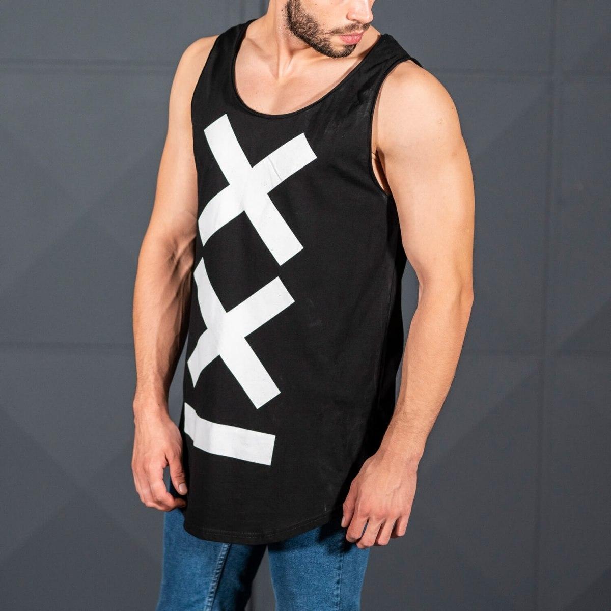 Men's Athletic Sleeveless XX Tall Tank Top Black Mv Premium Brand - 1
