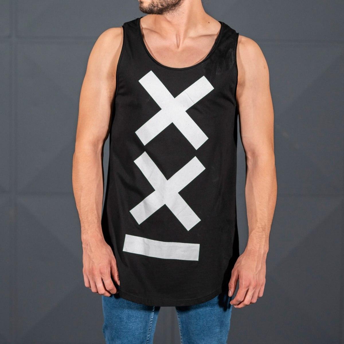 Men's Athletic Sleeveless XX Tall Tank Top Black Mv Premium Brand - 2