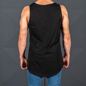 Men's Athletic Sleeveless XX Tall Tank Top Black Mv Premium Brand - 5
