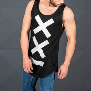 Men's Athletic Sleeveless XX Tall Tank Top Black Mv Premium Brand - 4
