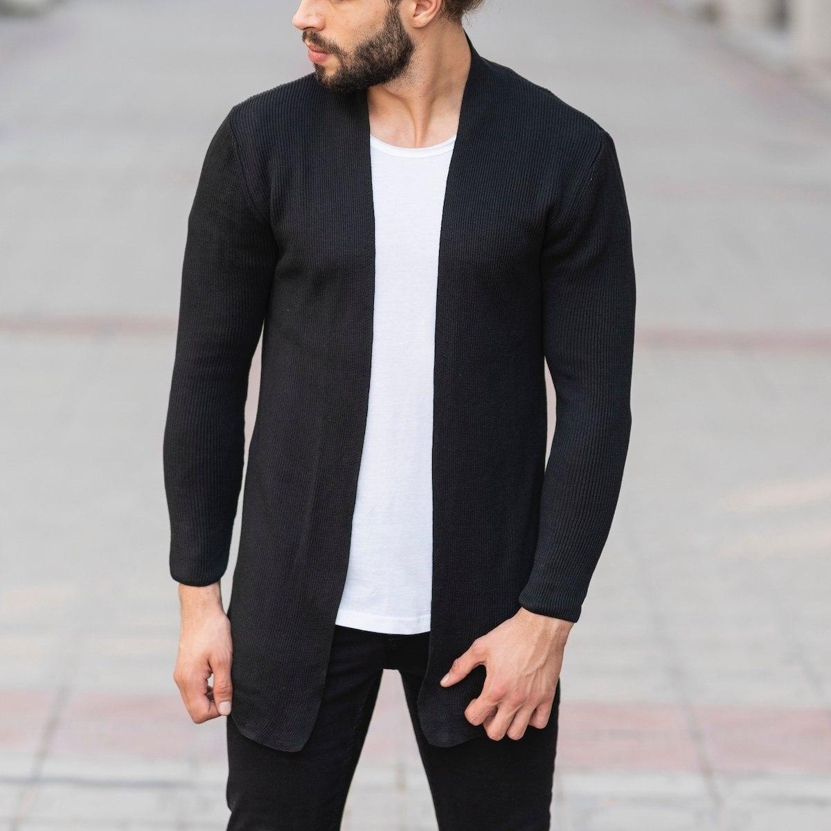 Tricot Style Black Cardigan