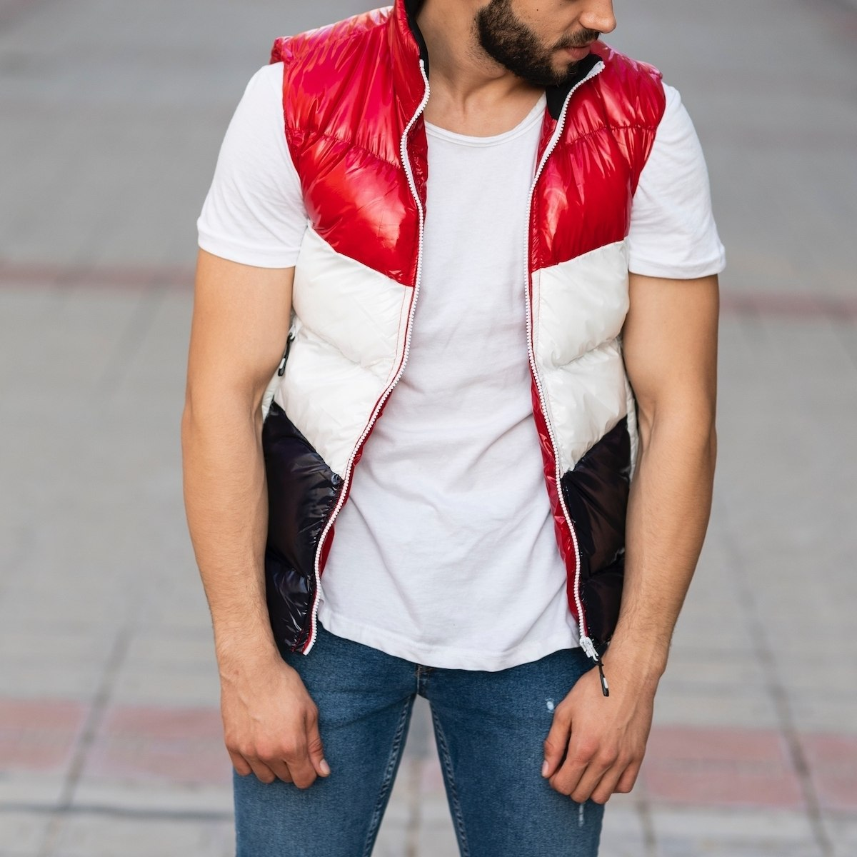 Men's Tri-Color Puffer Vest