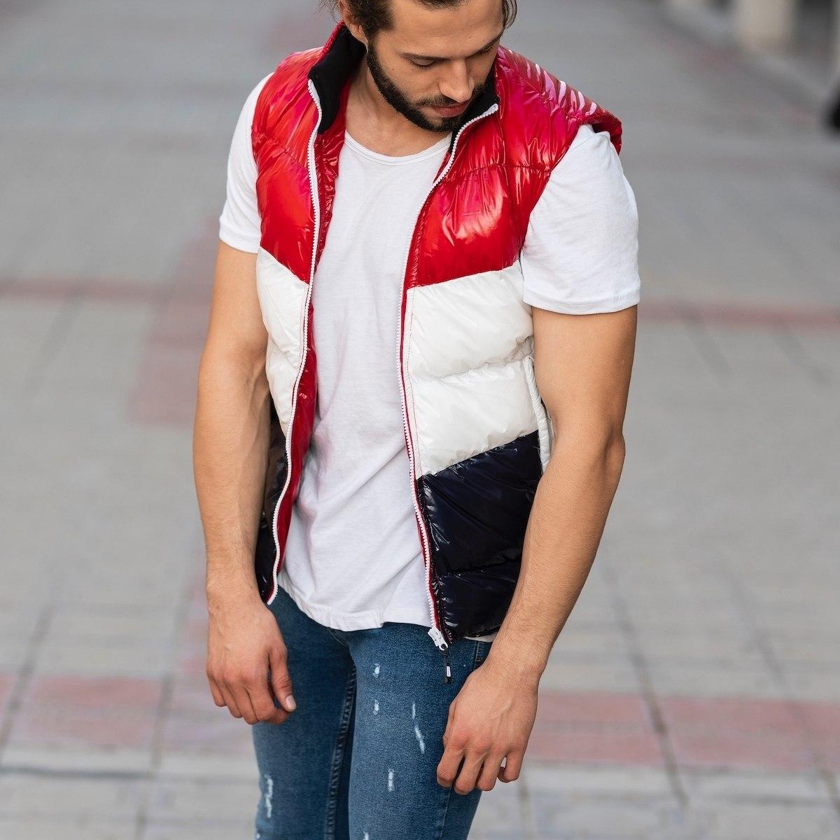 Men's Tri-Color Puffer Vest