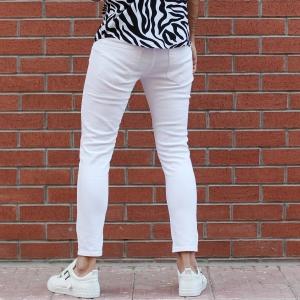 Men's Basic Stretch Jeans Full White Mv Premium Brand - 3