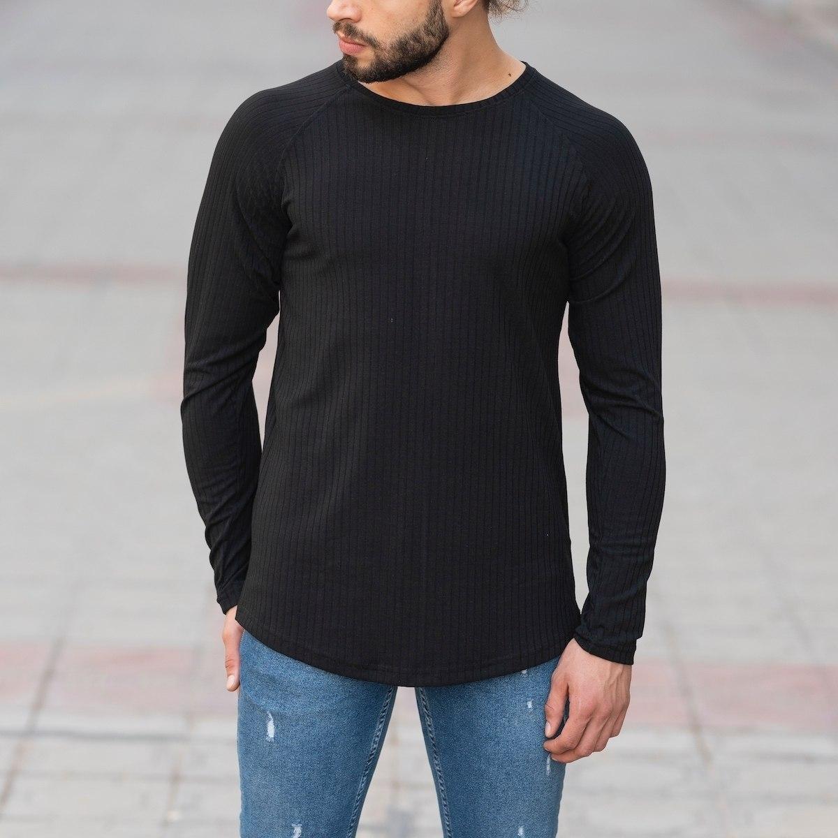 Black Sweatshirt With Stripe Details Mv Premium Brand - 1